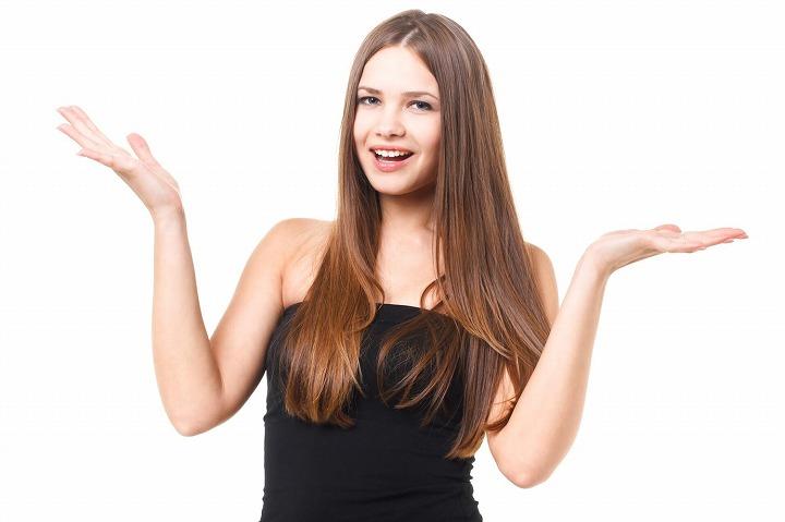 サラサラの髪の女性